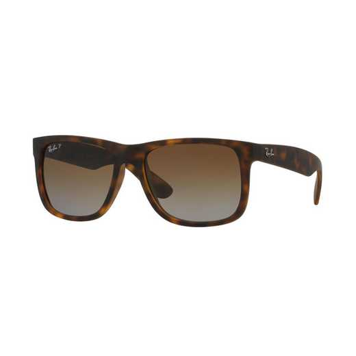 0RB4165865T5: Polarized Justin Classic Sunglasses - Brown & Brown Gradient