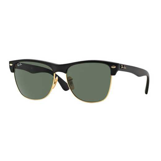 0RB417587757: Clubmaster Oversized Sunglasses - Black