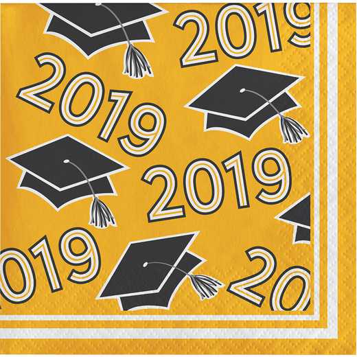 DTC335411BNAP: CC Yellow Class Of 2019 Beverage Napkins