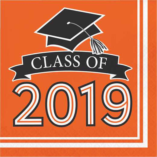 DTC335417NAP: CC Orange Class Of 2019 Napkins