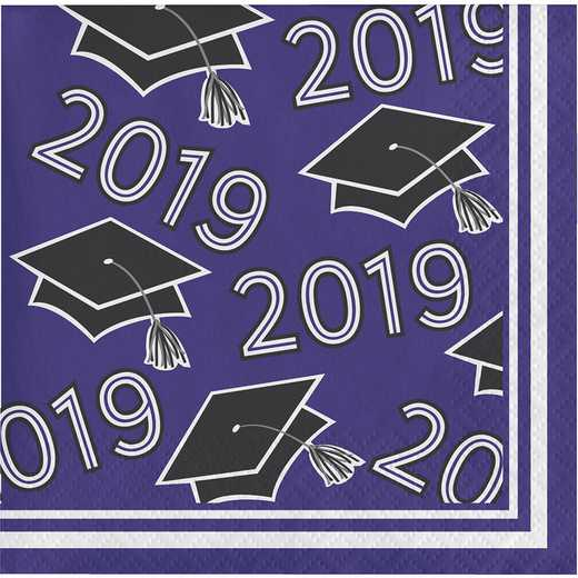 DTC335410BNAP: CC Purple Class Of 2019 Beverage Napkins