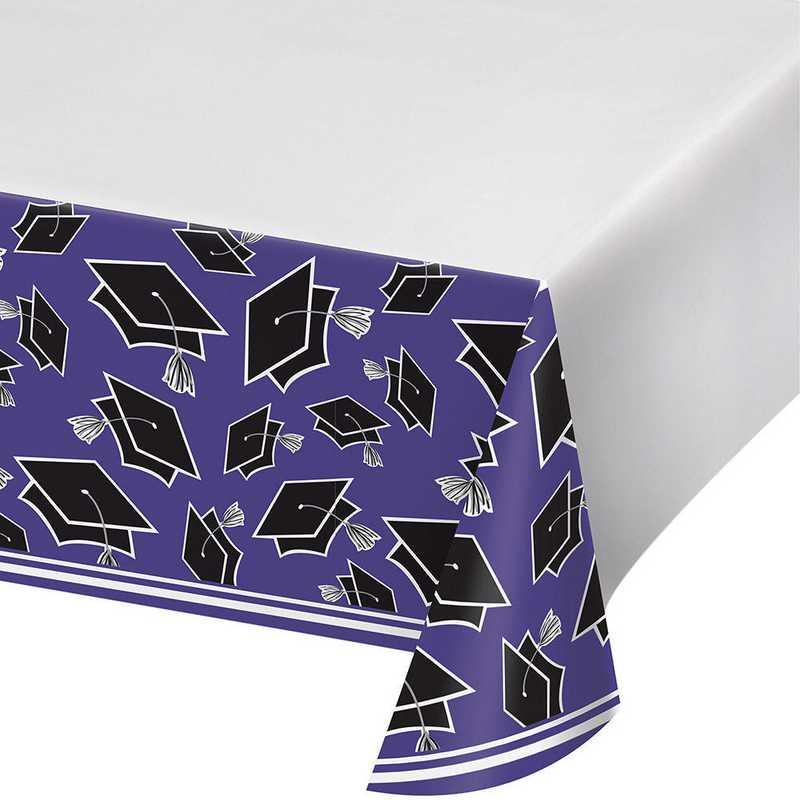 DTC320078TC: CC Graduation School Spirit Purple Tablecloths