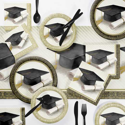 DTC3879E2A: CC Classic Graduation Party Supplies Kit