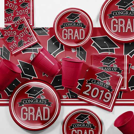 DTCCLRED2E: CC Red 2019 Graduation Party Supplies Kit