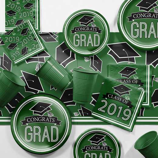 DTCGREEN2E: CC Green 2019 Graduation Party Supplies Kit