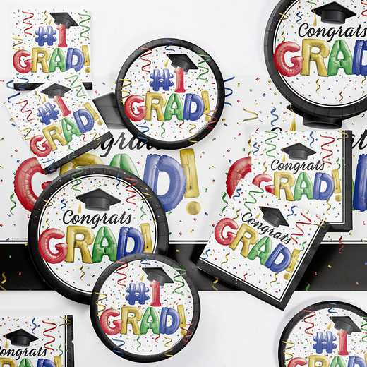DTC3878E2A: CC #1 Grad Party Supplies Kit