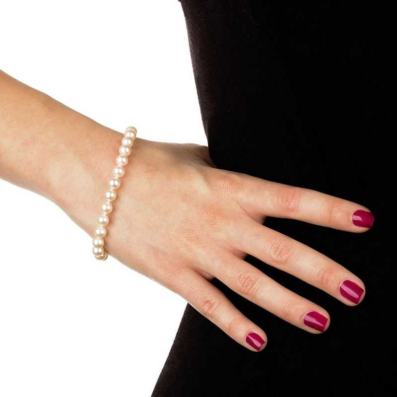 BF-67-A-75-BF: 14KT YELLOW GOLD 6-7MM FRESHWATER PEARL 7.5