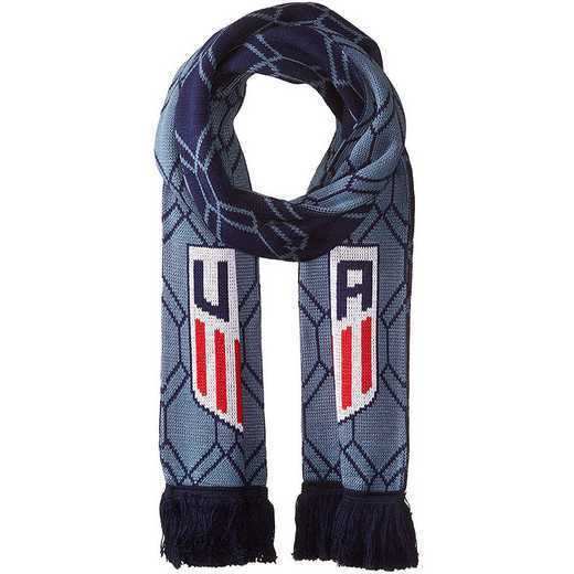 USA-2016-BHEX: US Soccer Scarf - Blue Hex
