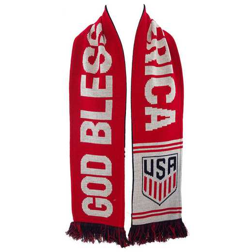 USA-17-BLESS: US Soccer Scarf - God Bless America