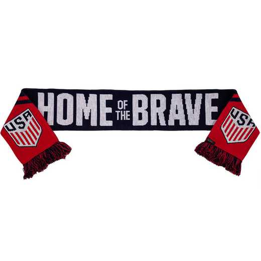 USA-17-HOB: US Soccer Scarf - Home of the Brave
