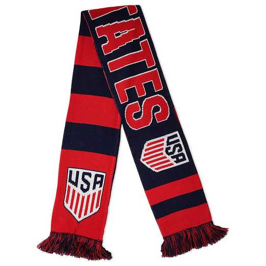 USA-17-HOOPS: US Soccer Scarf - Hoops