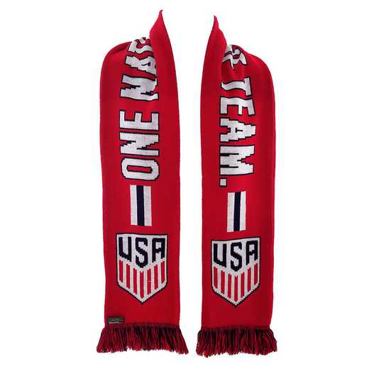 USA-2016-RONE: US Soccer Scarf - Red One Nation One Team