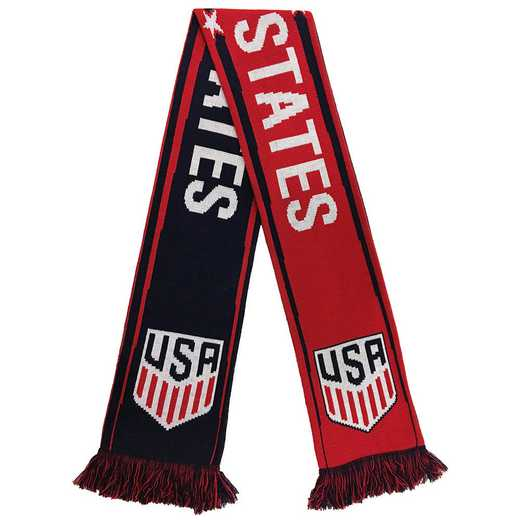 USA-17-RWB: US Soccer Scarf - Red - White and Blue