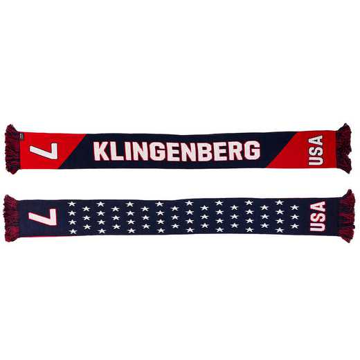 USWNT-PA-KLINGENBERG7: USWNT Scarf - Meghan Klingenberg #7 Scarf