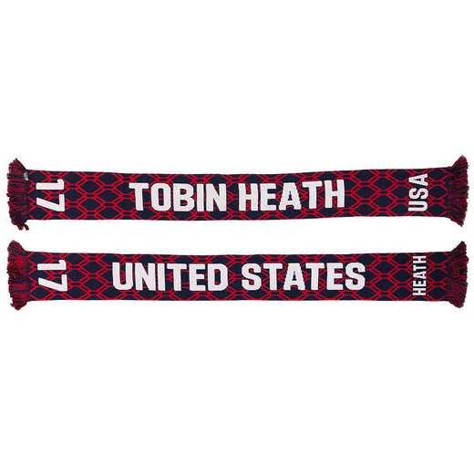 USWNT-PA-HEATH17: USWNT Scarf - Tobin Heath #17 Scarf