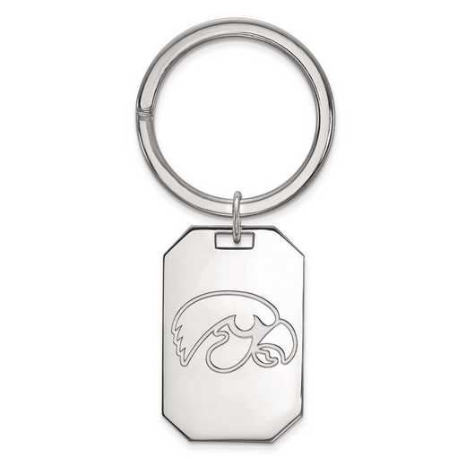 SS026UIA: Sterling Silver LogoArt University of Iowa Key Chain