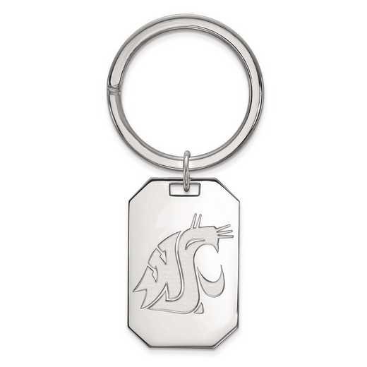 SS019WAS: Sterling Silver LogoArt Washington State Key Chain
