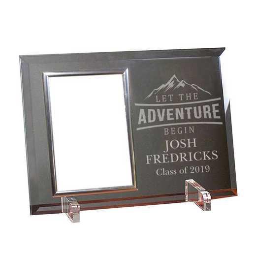 85126218SL: PGS Let the Adv Beveled Frame Silver Trim, 4x6
