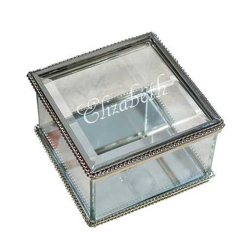 8522990: PGS Glass Jewelry Box Engraved with Name