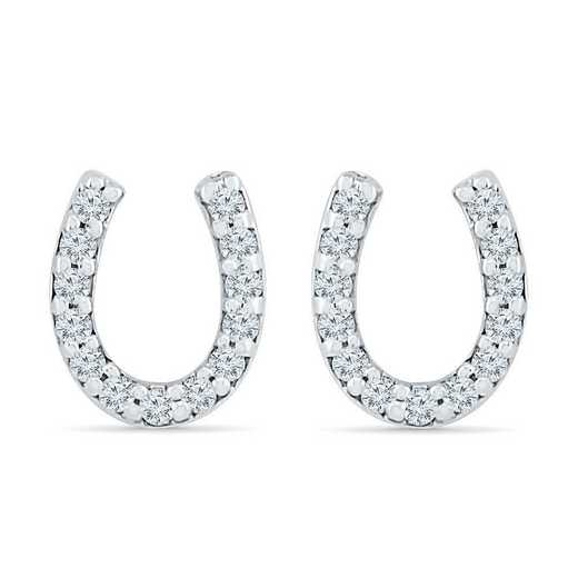 EQ080847BAW: SS HORSESHOE EAR EARRING J / I3