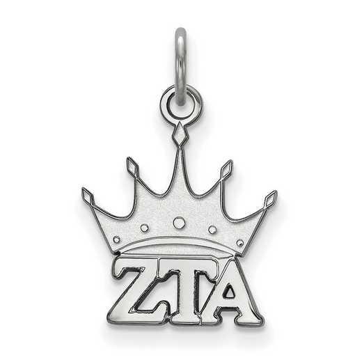 SS034ZTA: Sterling Silver LogoArt Zeta Tau Alpha XS Pendant
