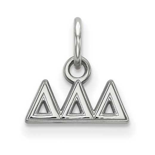 SS001DDD: Sterling Silver LogoArt Delta Delta Delta XS Pendant