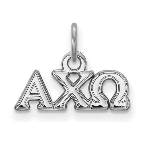 SS001ACO: Sterling Silver LogoArt Alpha Chi Omega XS Pendant