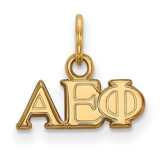 GP001AEP: Sterling Silver w/GP LogoArt Alpha Epsilon Phi XS Pendant
