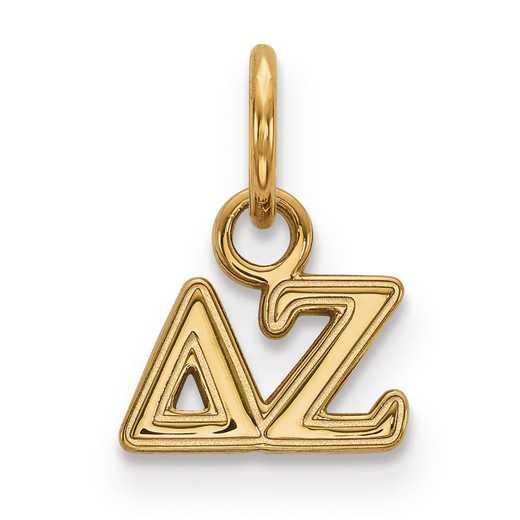 GP001DZ: Sterling Silver w/GP LogoArt Delta Zeta XS Pendant