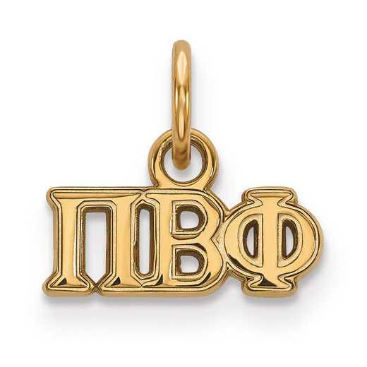 GP001PBP: Sterling Silver w/GP LogoArt Pi Beta Phi XS Pendant