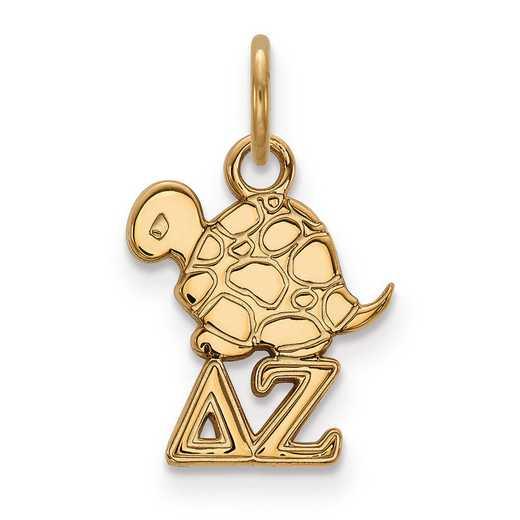 GP034DZ: Sterling Silver w/GP LogoArt Delta Zeta XS Pendant