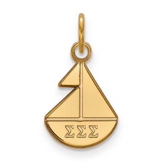 GP034SSS: Sterling Silver w/GP LogoArt Sigma Sigma Sigma XS Pendant
