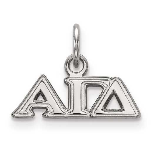 SS001AGD: Sterling Silver LogoArt Alpha Gamma Delta XS Pendant
