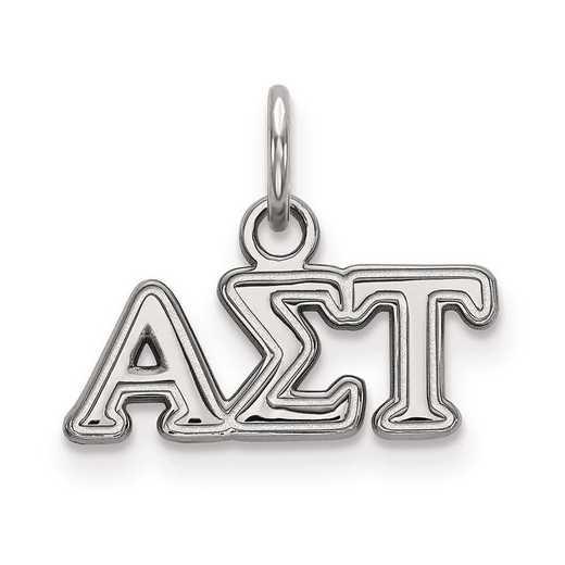 SS001ALS: Sterling Silver LogoArt Alpha Sigma Tau XS Pendant
