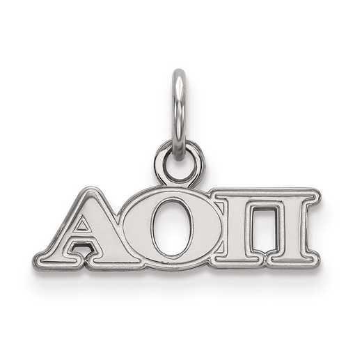 SS001AOP: Sterling Silver LogoArt Alpha Omicron Pi XS Pendant