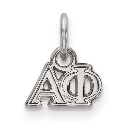 SS001APH: Sterling Silver LogoArt Alpha Phi XS Pendant