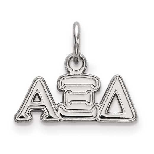 SS001AXD: Sterling Silver LogoArt Alpha Xi Delta XS Pendant