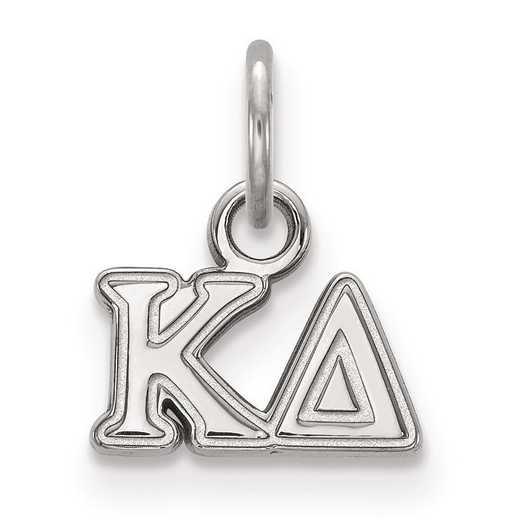 SS001KD: Sterling Silver LogoArt Kappa Delta XS Pendant