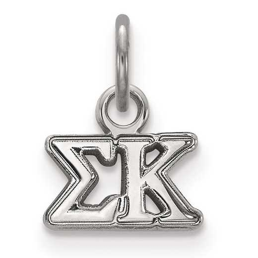 SS001SKP: Sterling Silver LogoArt Sigma Kappa XS Pendant