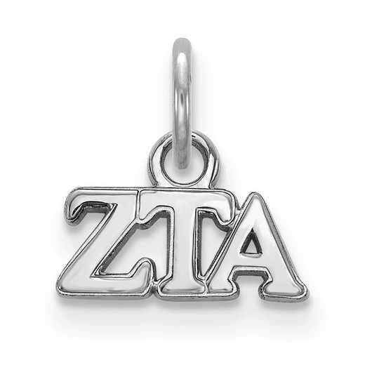 SS001ZTA: Sterling Silver LogoArt Zeta Tau Alpha XS Pendant