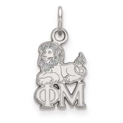 SS034PHM: Sterling Silver LogoArt Phi Mu XS Pendant