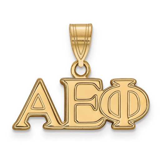 GP003AEP: SterlingSilver w/GP LogoArt Alpha Epsilon Phi Medium Pendant
