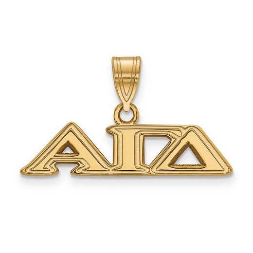 GP003AGD: SterlingSilver w/GP LogoArt Alpha Gamma Delta Medium Pendant
