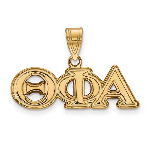 GP003TPA: Sterling Silver w/GP LogoArt Theta Phi Alpha Medium Pendant