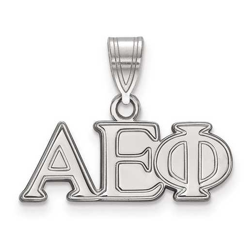 SS003AEP: Sterling Silver LogoArt Alpha Epsilon Phi Medium Pendant