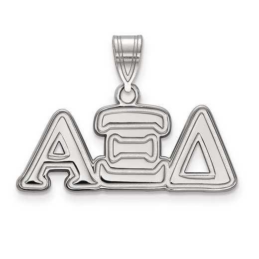SS003AXD: Sterling Silver LogoArt Alpha Xi Delta Medium Pendant