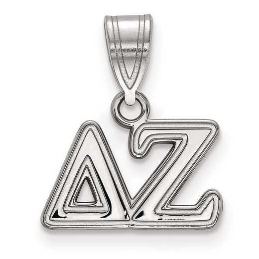 SS003DZ: Sterling Silver LogoArt Delta Zeta Medium Pendant