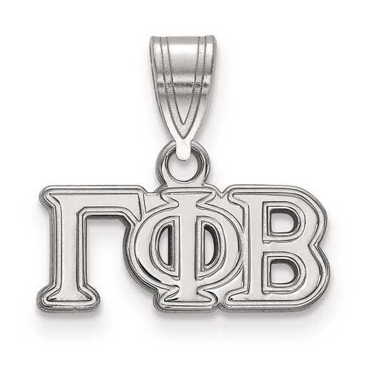 SS003GPB: Sterling Silver LogoArt Gamma Phi Beta Medium Pendant