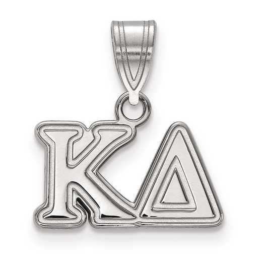 SS003KD: Sterling Silver LogoArt Kappa Delta Medium Pendant