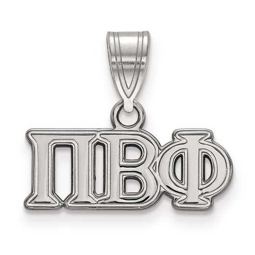 SS003PBP: Sterling Silver LogoArt Pi Beta Phi Medium Pendant